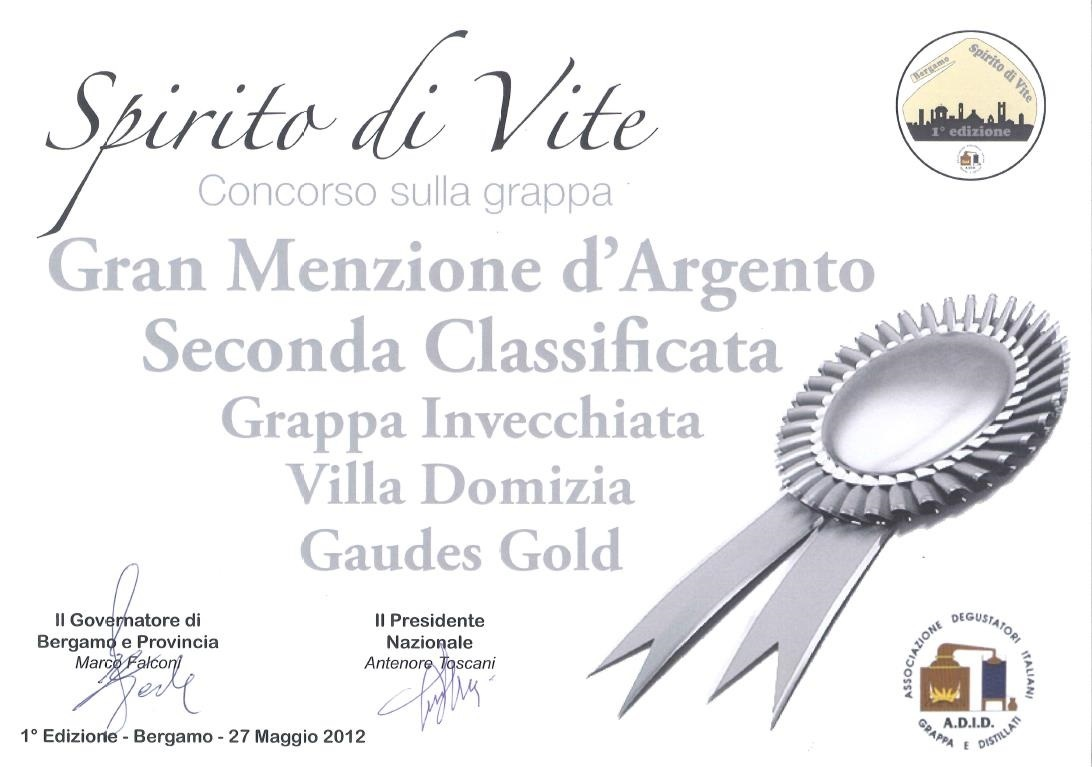 "1st provincial contest ""Spirito di Vite"" – Silver Medal to Gold Gaudes"