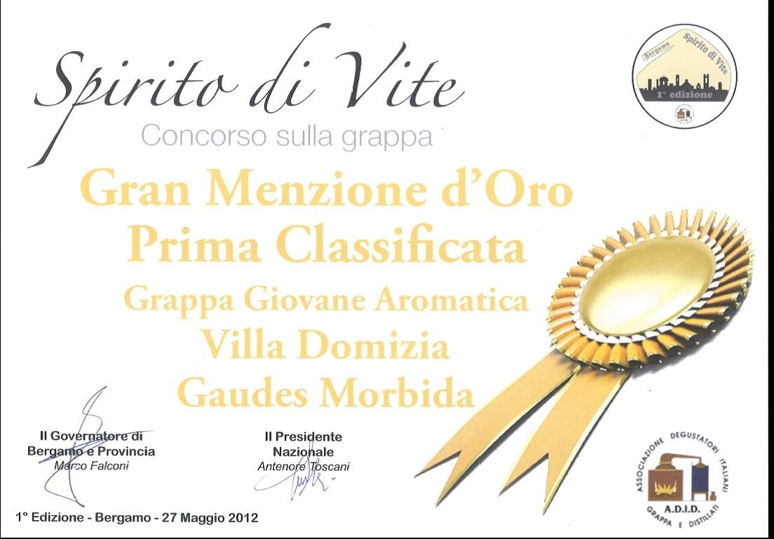 1° Concorso Provinciale Spirito di Vite - Oro Gaudes Morbida