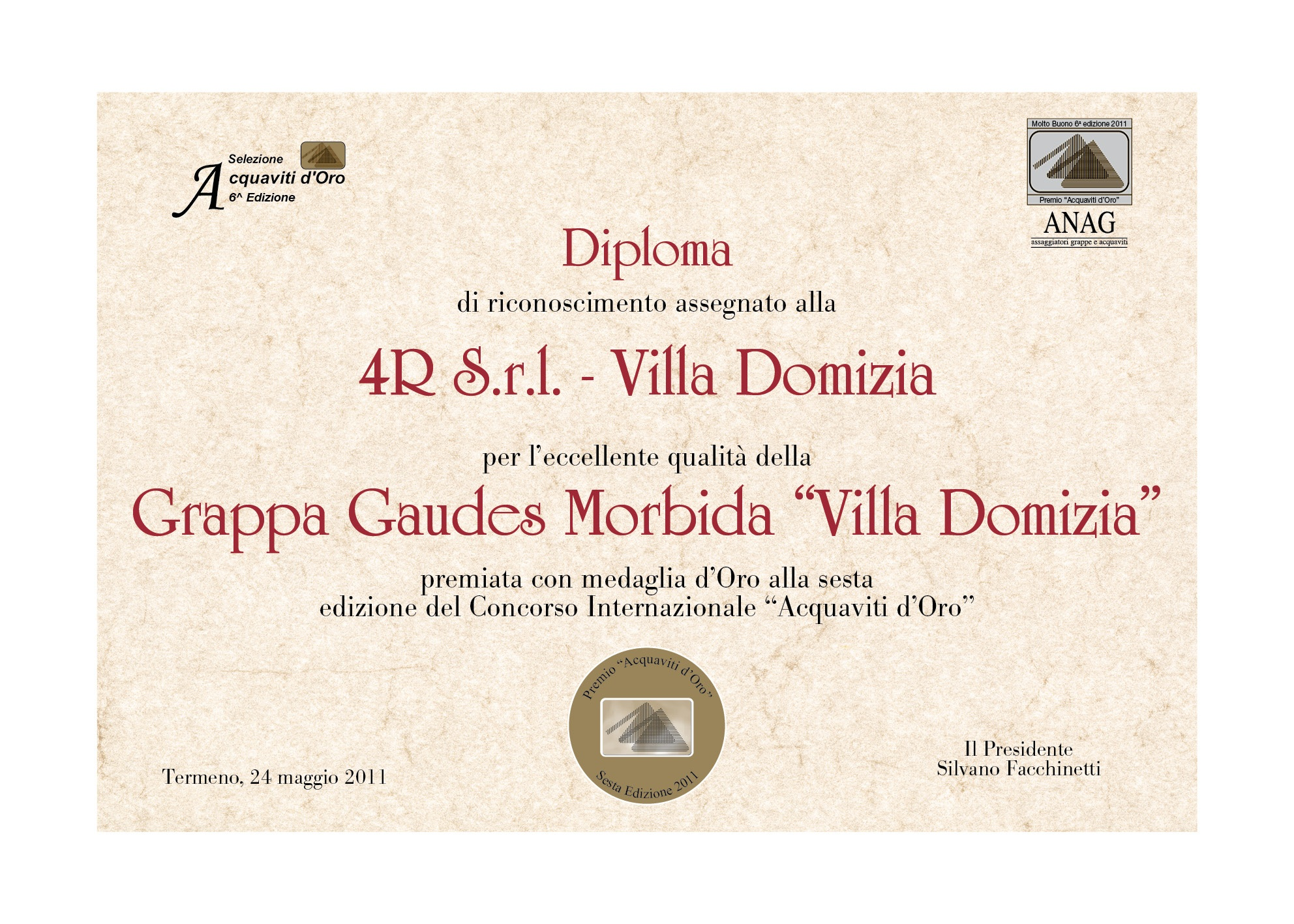 "6th international contest ""Acquaviti D'Oro"""