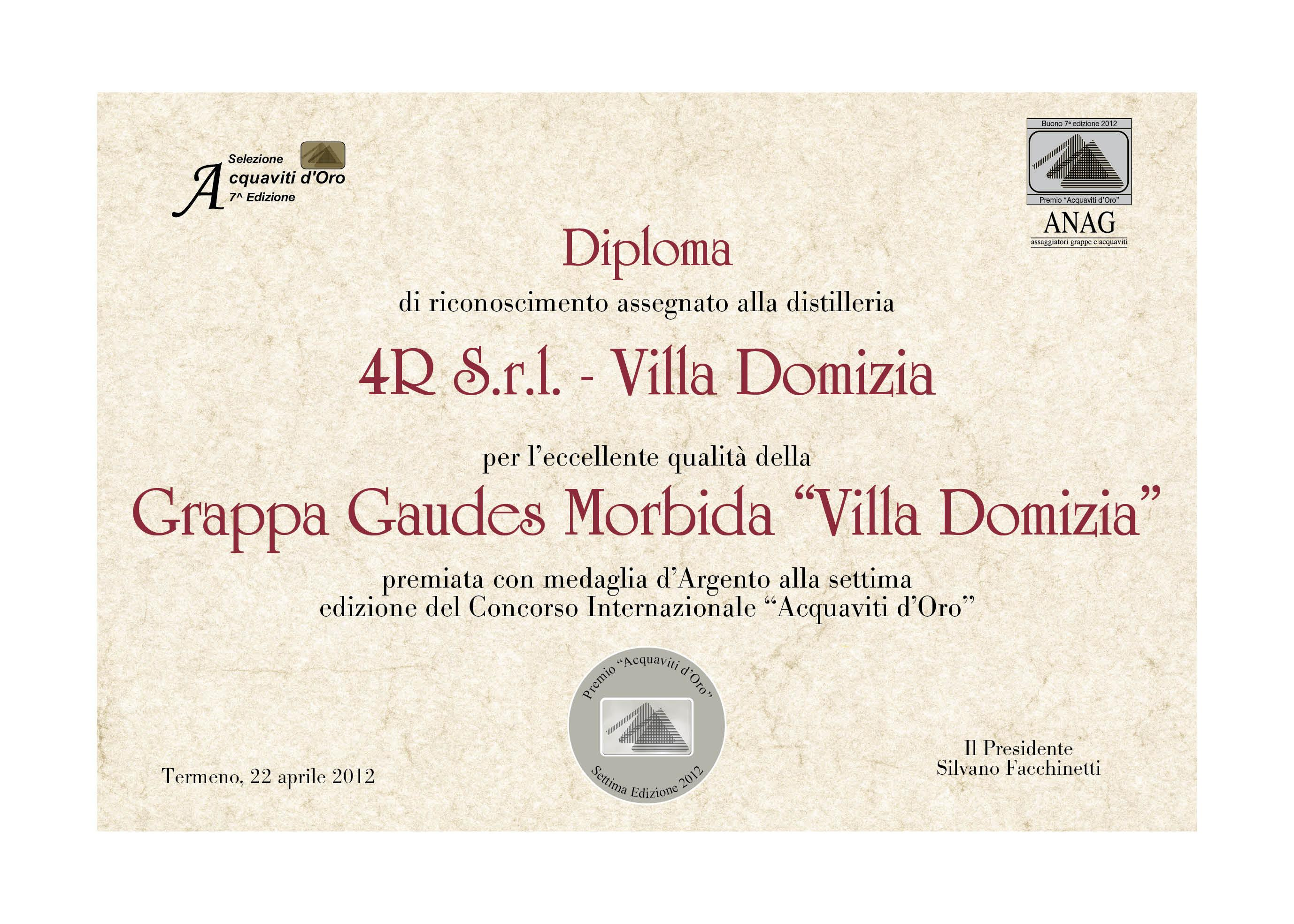 "7th international contest ""Acquaviti D'Oro"""
