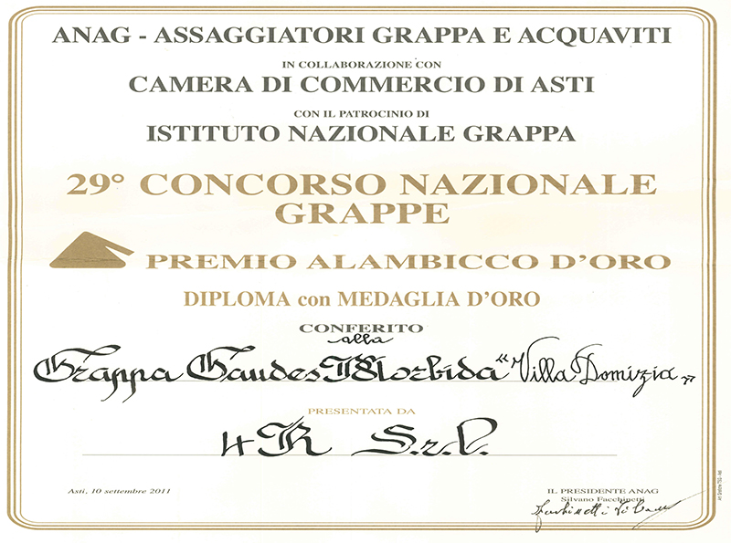 "29th national contest ""Alambicco D'Oro"""